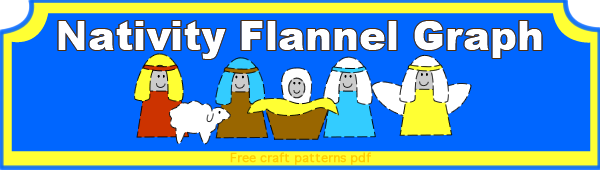 featured Nativity flannel
