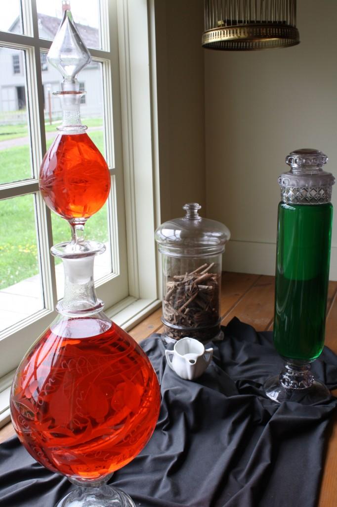 Bottles of ingredients
