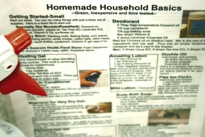Homemade Household Basics Quick Reference